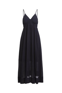 Rabens Saloner Kjole - Jen Airy Long Dress, Black