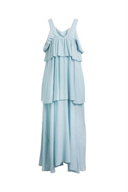 Rabens Saloner Kjole - Juna Airy Fill Dress, Light Blue