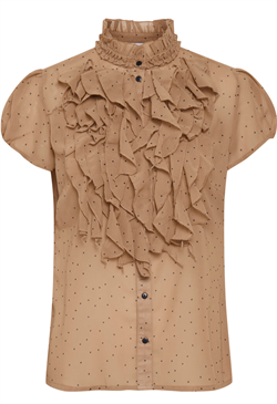 Saint Tropez Top - LillySZ SS Shirt, Praline Dot
