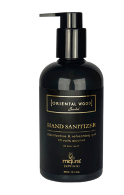 Incosmetics Håndsprit - Miqura Wood Handcare, Sanitizer, 300 ml