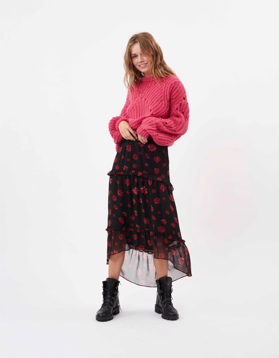 Moves by Minimum nederdel - Masina Skirt, Black Flower
