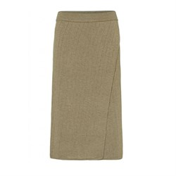 NORR Nederdel - Randi Knit Skirt, Light Brown
