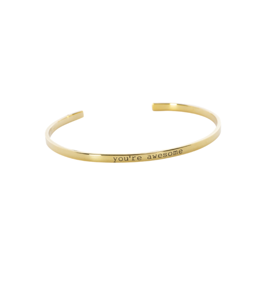 "Anna+Nina Armring - Nina Cuff, Goldplated ""You\'re Awsome"""