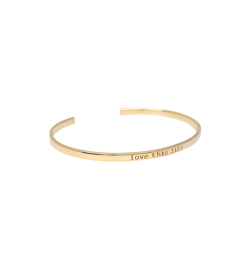 "Anna+Nina Armring - Nina Cuff, Goldplated ""Love This Life"""