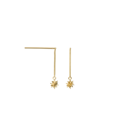 Anna+Nina Øreringe - North Star Earring, Silver Goldplated