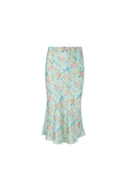 NOTES DU NORD Nederdel - Odeon Silk Skirt, Romantic Flower