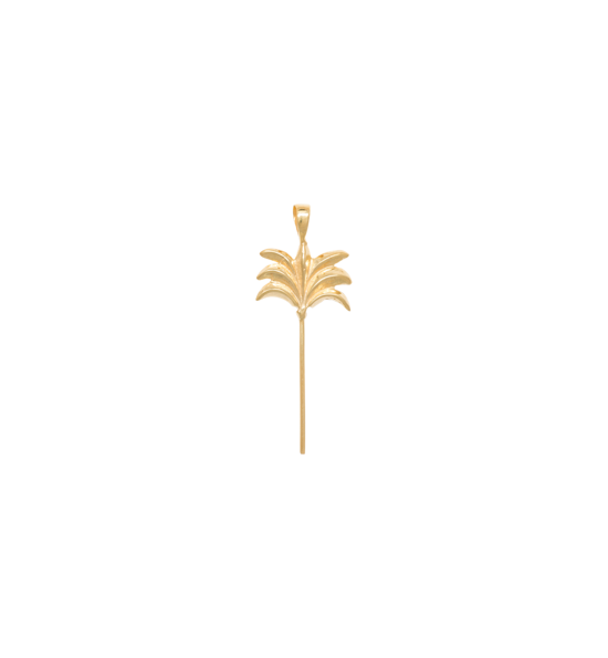 Anna+Nina Vedhæng - Palm Tree Necklace Charm, Goldplated