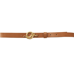 NOTES DU NORD Bælte - Paxton Leather Belt, Cognac/Gold