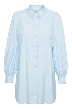 Karen By Simonsen Bluse - Philly Long Shirt, Xenon Blue