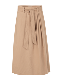 Second Female nederdel - Phoebe HW Wrap Skirt, Praline