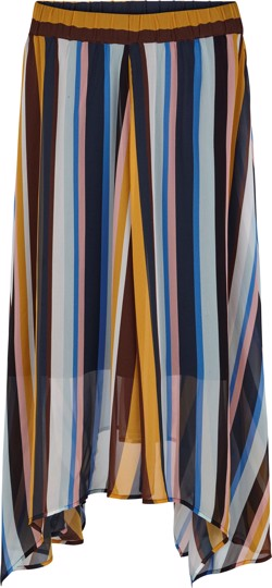 Just Female Nederdel - Romain Skirt, Multi stripe AOP