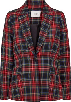 Just Female Jakke - Sinclair Blazer, Red Check