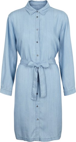 Second Female Kjole - Sophia LS shirt dress, Light Blue denim