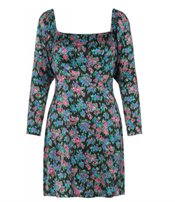 Notes Du Nord Kjole - Sara Organic Silk Dress, Flower Dream