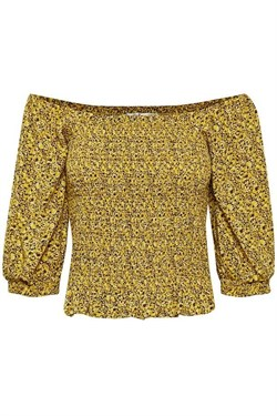 Gestuz Kjole - SaraleeGZ Blouse, Yellow Mini Flower
