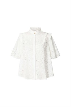 Lollys Laundry Bluse - Maria Top, White