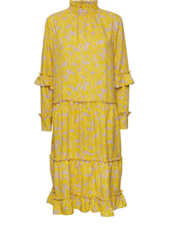 NORR kjole - Anastacia dress, Yellow Print