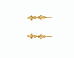 Anna+Nina Øreringe - Eden Hook Earrings, Silver Goldplated