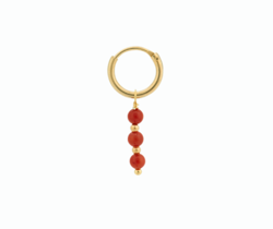 Anna+Nina Ørering - Single Coral Ring Earring, Goldplated
