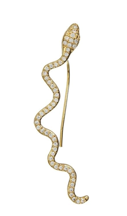 Joseph cph ørering - Crawling snake earring single, Gold