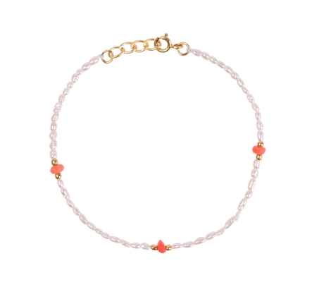 Anna+Nina Armbånd - Pearl Reef Bracelet, Goldplated