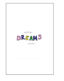 "Anna + Nina kort - Cards ""May All Your Dreams Come True"""