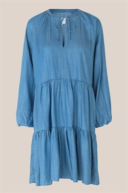 Second Female Kjole - Lilla LS dress, Blue Denim