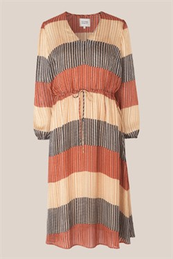 Second Female Kjole - Board LS Midi Dress, Apricot Brandy