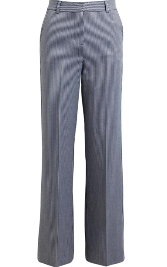Rabens Saloner Bukser - Blerona Striped suiting pant, Blue/white