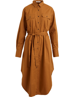Rabens Saloner Kjole - Ria Slim Shirt Dress, Mustard