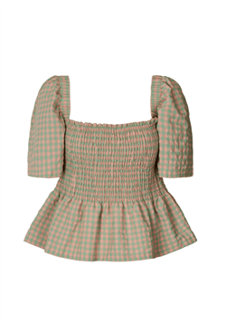 Lollys Laundry Bluse - Josie Top, Light Green