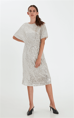 Ichi Kjole - IHJolene Dress, Frosted Almond