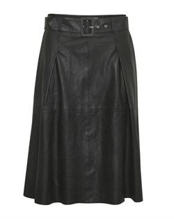 Denim Hunter Nederdel - DHEnzo Leather Skirt, Black