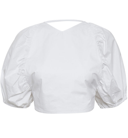 Gestuz Top - SvalaGZ Top, Optical White