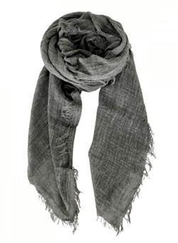 Black Colour tørklæde - Taya Scarf, Charcoal