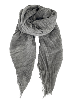 Black Colour tørklæde - Taya Scarf, Grey