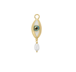 Anna+Nina Vedhæng - Teardrop Earring Charm, Gold plated