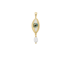 Anna+Nina Vedhæng - Teardrop Necklace Charm, Gold plated