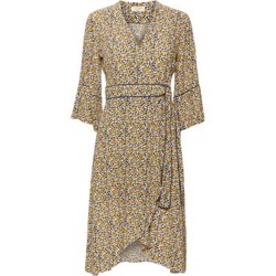 NORR kjole - Teena Dress, Yellow Flower Print