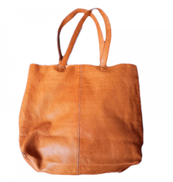 Black Colour Taske - Tote Bag, Tan
