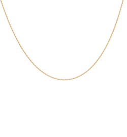 Anna+Nina Halskæde - Twisted Plain Necklace Long, Goldplated