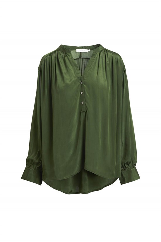 Rabens Saloner Top - Laia Nocturne Shirt, Green