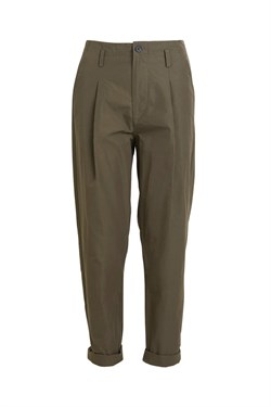 Rabens Saloner Bukser - RAINA - PERFORMANCE PLEAT PANT, Dark Green