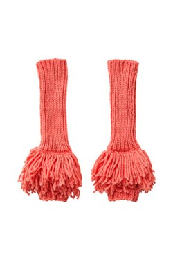 Rabens Saloner Vanter - ELENOR - CRAZY MIX FINGERLESS GLOVE, Pink Coral