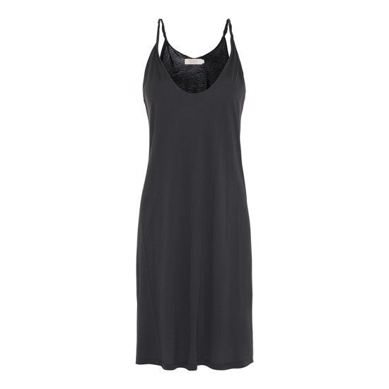 Rabens Saloner kjole - Nancy Twisted jersey tank dress, Faded black