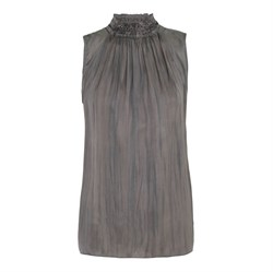 Rabens Saloner T-shirt - Bitte Astral halter neck top, Cloudy Grey
