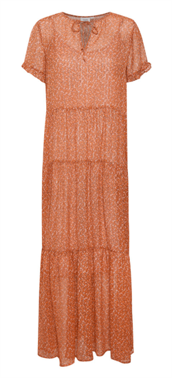 Saint Tropez Kjole - XelinaSZ Dress, Red Orange Puff Sky