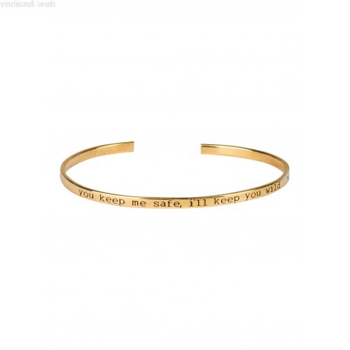 "Anna+Nina Armring - Nina Cuff ""I Will Keep You Safe"", Goldplated"
