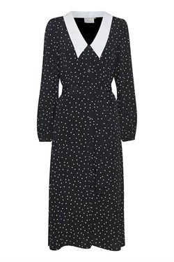 Gestuz Kjole - KatlaGZ Dress, Black w. white dot