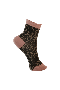 Black Colour Strømper - 4192 PUZZLE SOCK, Grey